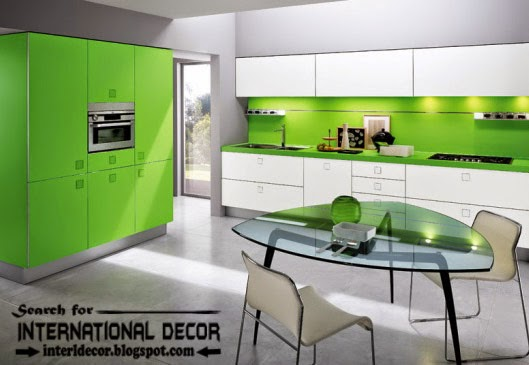 Most popular kitchen cabinet colors 2016 Modern green kitchen ideas