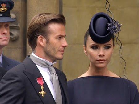Дейвид и Виктория Бекъм на кралската сватба