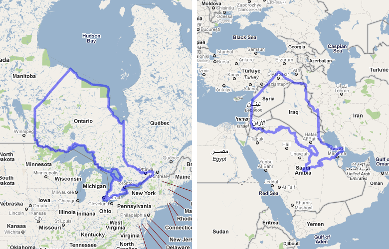 Google Maps Toronto Island
