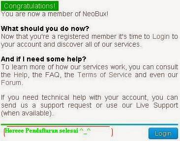 Cara Daftar NeoBux Terbaru Gratis