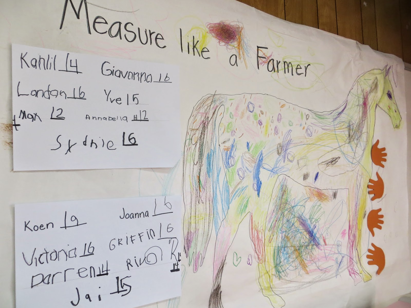 Measuring like a farmer preschool math activity- farmer unit
