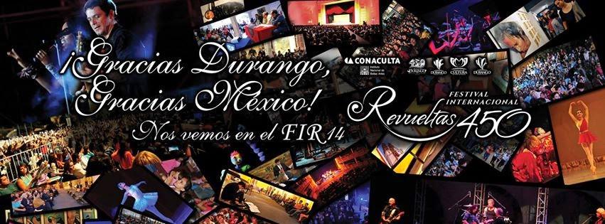 Programa del FEstival internacional Revueltas 2014