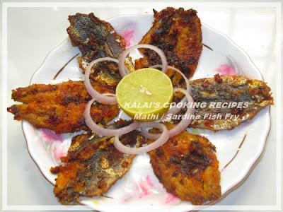 Sardines Fillets Fish Fry with Onion | மத்தி மீன் / சால மீன் வறுவல் | Matthi Meen / Chala Meen Varuval