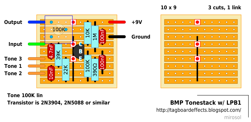 Guitar FX Layouts: BMP Tonestack w/ LPB1 on