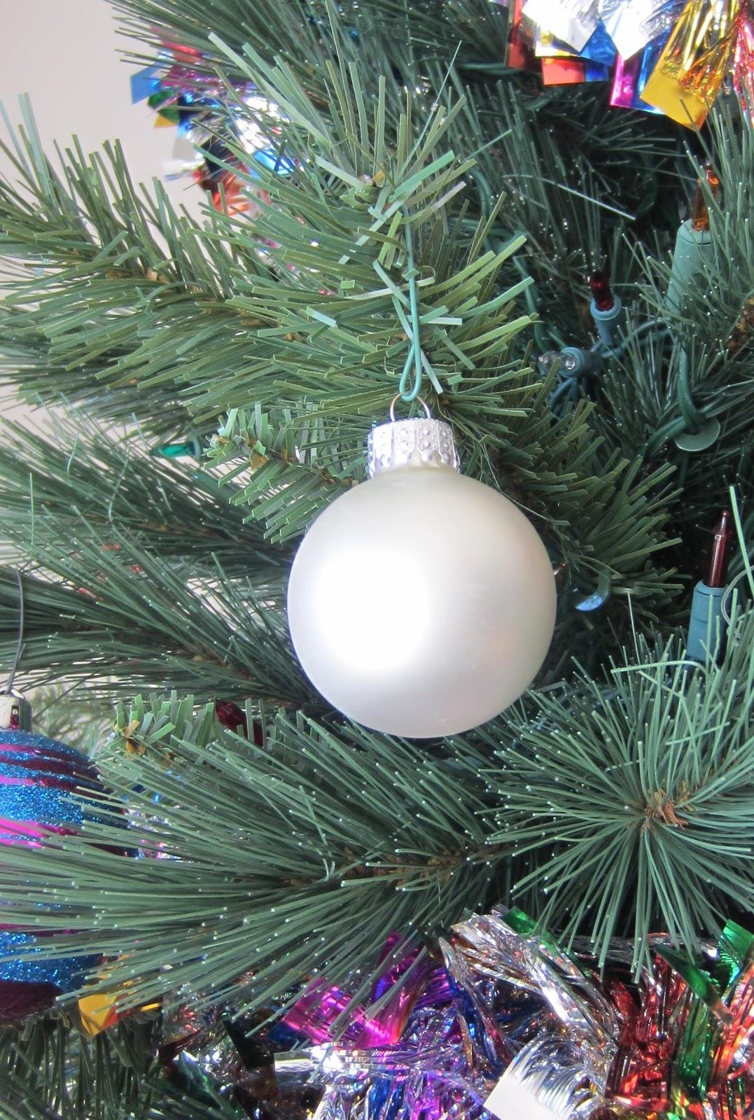 Christmas Tree White Ornament