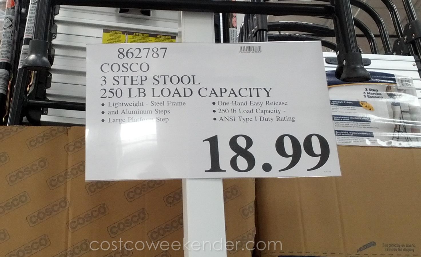 Cosco 3 Step Stool Costco Weekender