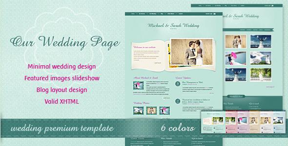 ThemeForest - Our Wedding Page HTML Template