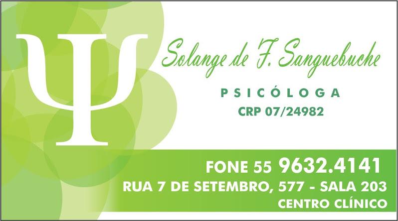 Psicóloga Solange Sanguebuche!