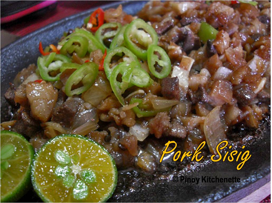 sizzling pork sisig pork sisig ingredients 400 gms pork liempo