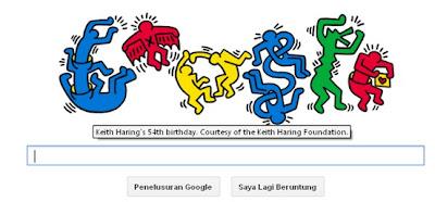 Ulang Tahun Keith Haring Yang Ke-54 di Logo Google Doodle