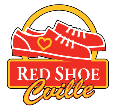 red shoe cville red  white and brews black shoe with wings logo name Logos and Names List