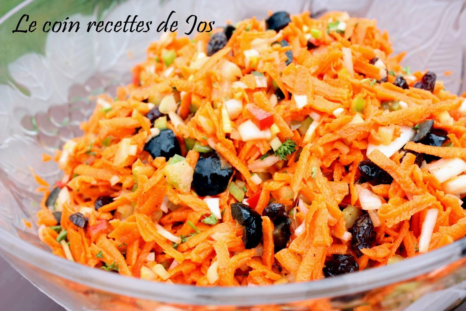 Le coin recettes de jos salade de carottes toute garnie for Eliminer les vers des salades
