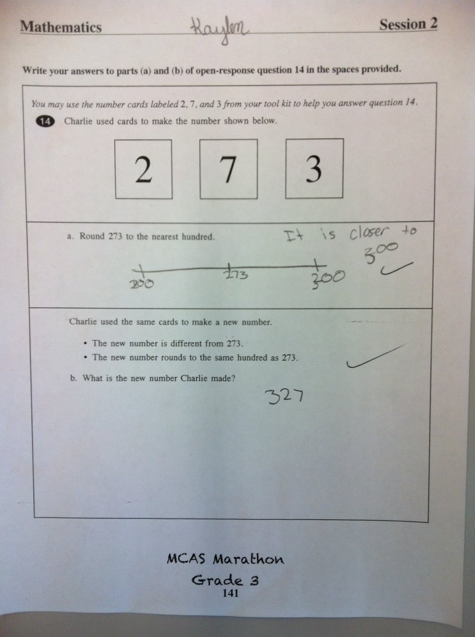 Michael J. Perkins School Blog: MCAS Math Marathon and the Answers ...