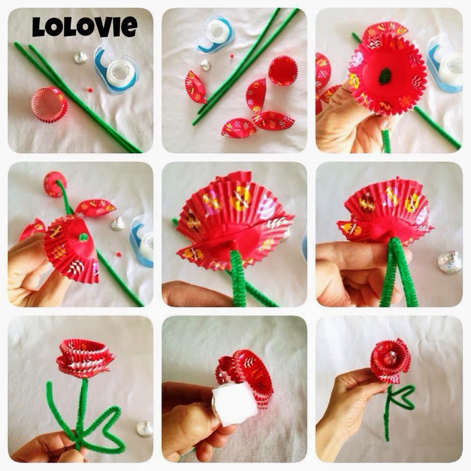 LoLovie: Valentine\'s Day flower bouquet