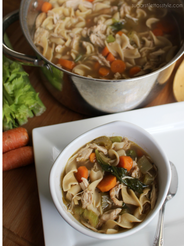 quick  easy one pot chicken noodle soup  shaina glenn