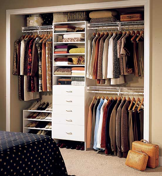 The couples spot closet space How to organize your clothes without a closet