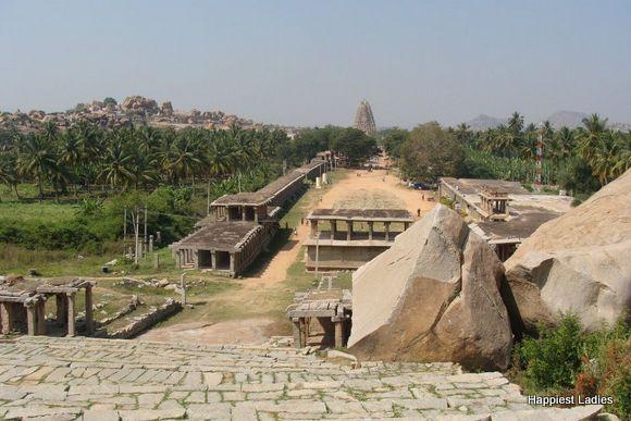 Hampi Bazar front of Virupaksha Temple Hampi