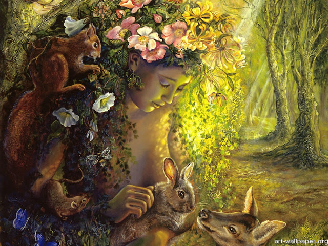 josephine wall fantasy painting the wood nymph