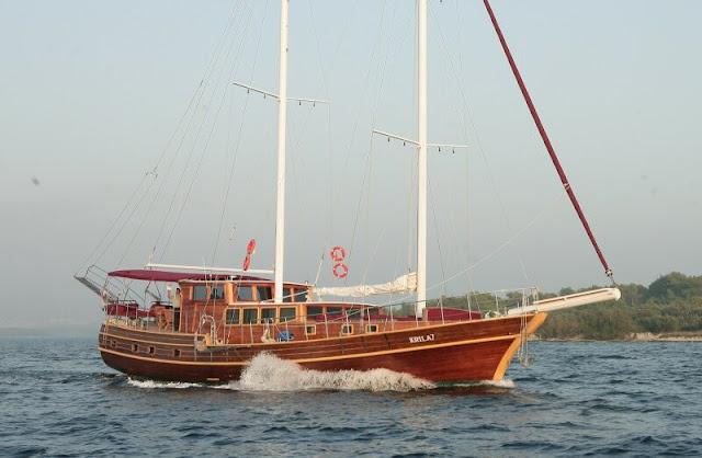 alquiler de goletas en turquia. Actividades náuticas en Turquia