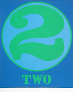 robert indiana creely numbers serigraphs two 2
