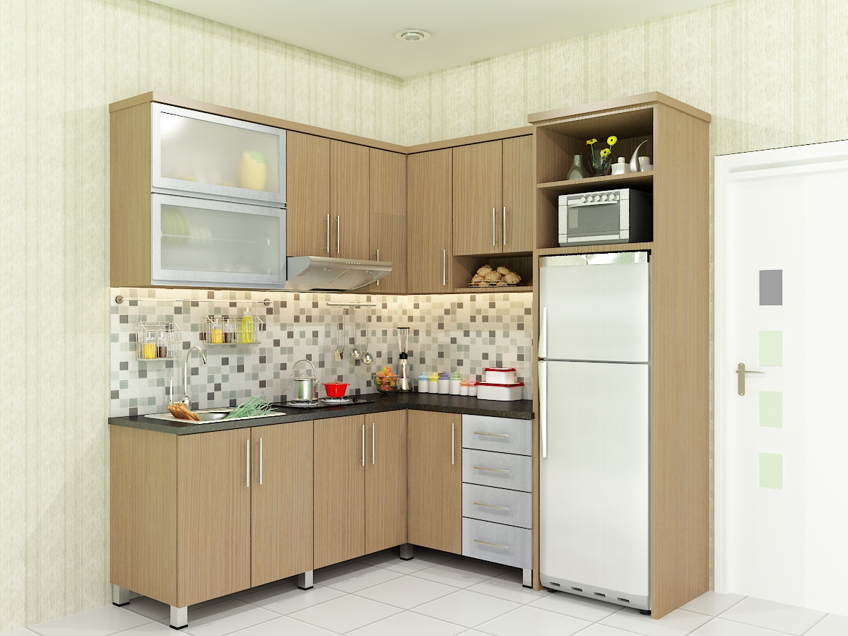 Modern kitchen set new home design 2011 modern kitchen for Kitchen set letter l