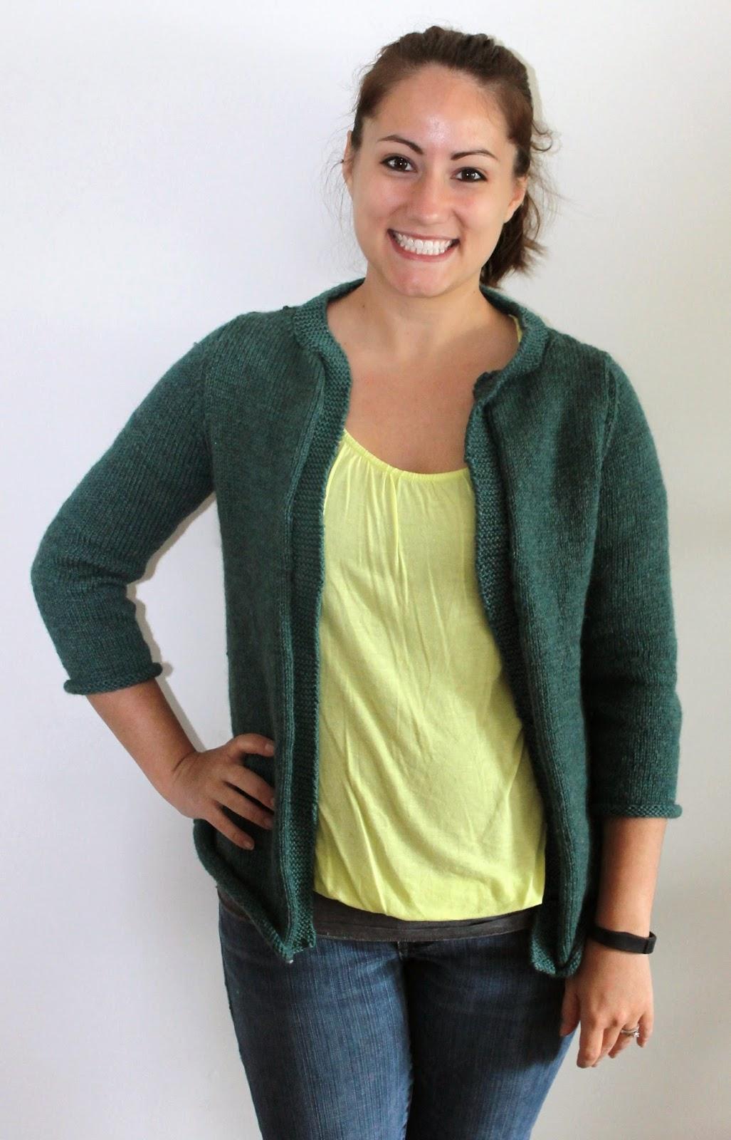 Meg Joins the Navy: DIY Knit Ephemera Cardigan Free Pattern