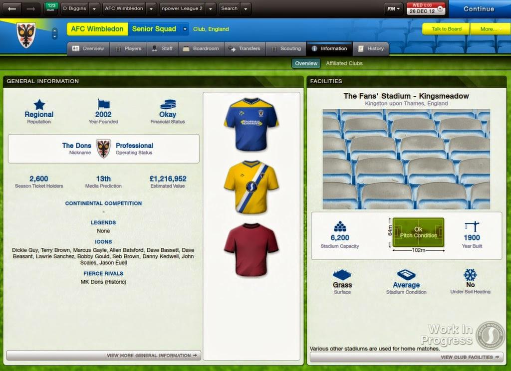 FOOTBALL MANAGER SCREENSHOT