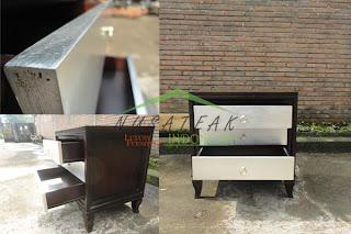 Nias Luxury Bed Side Table 2 - Nusa Teak