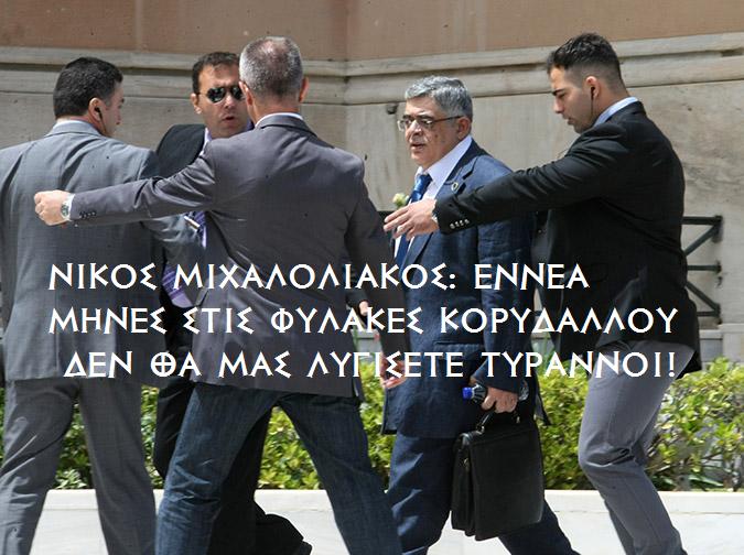 Άρθρο του Ν.Γ. Μιχαλολιάκου: Eννέα μήνες στις φυλακές κορυδαλλού
