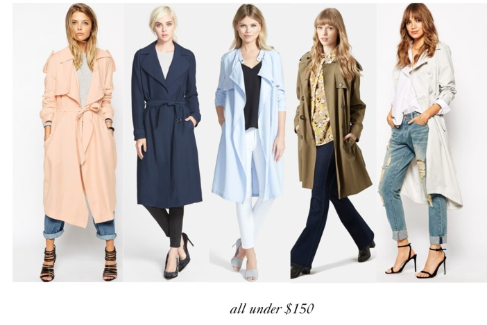 Affordable Trench coats