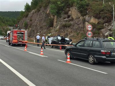 Imagem de acidente rodoviário em Vila Praia de Âncora na A28