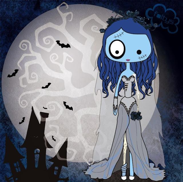 ilustración original foltys vs corpse bride costume (100% handmade with ♥)