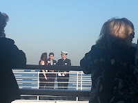 Telemundo interviews Queen Mary Captain