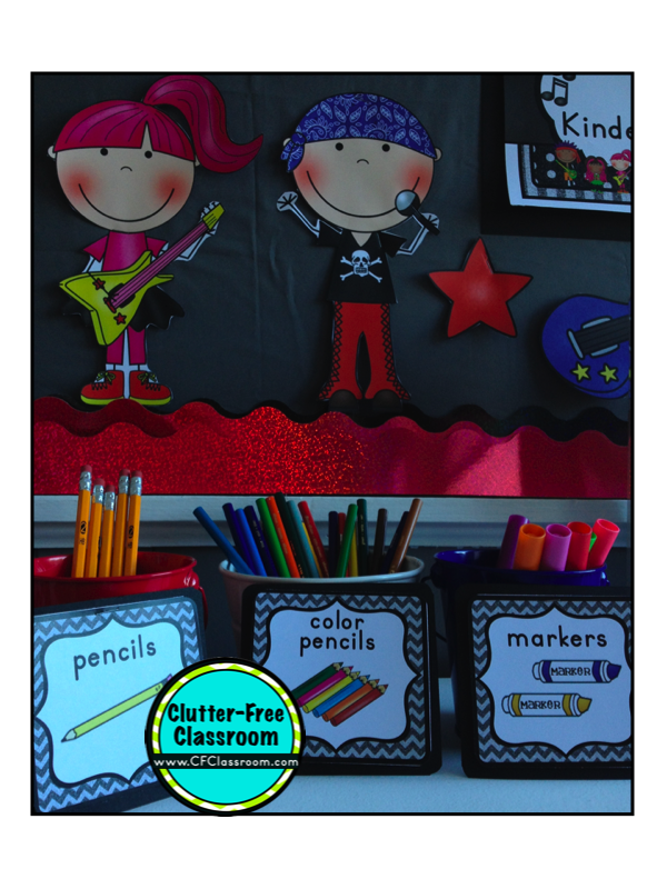 Rock and roll themed classroom ideas photos tips and more clutter free classroom bloglovin - Rock n roll dekoration ...