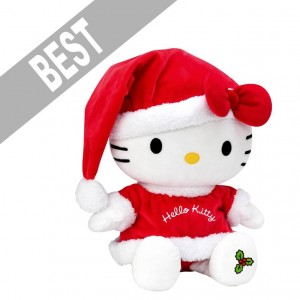 Hello Kitty santa hat plush soft toy for Christmas