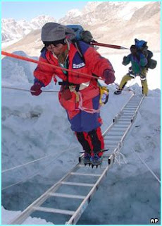 Tamae Watanabe in mount everest