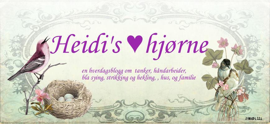 Heidi's ♥ hjørne