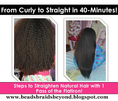 beads braids and beyond straightening long naturally