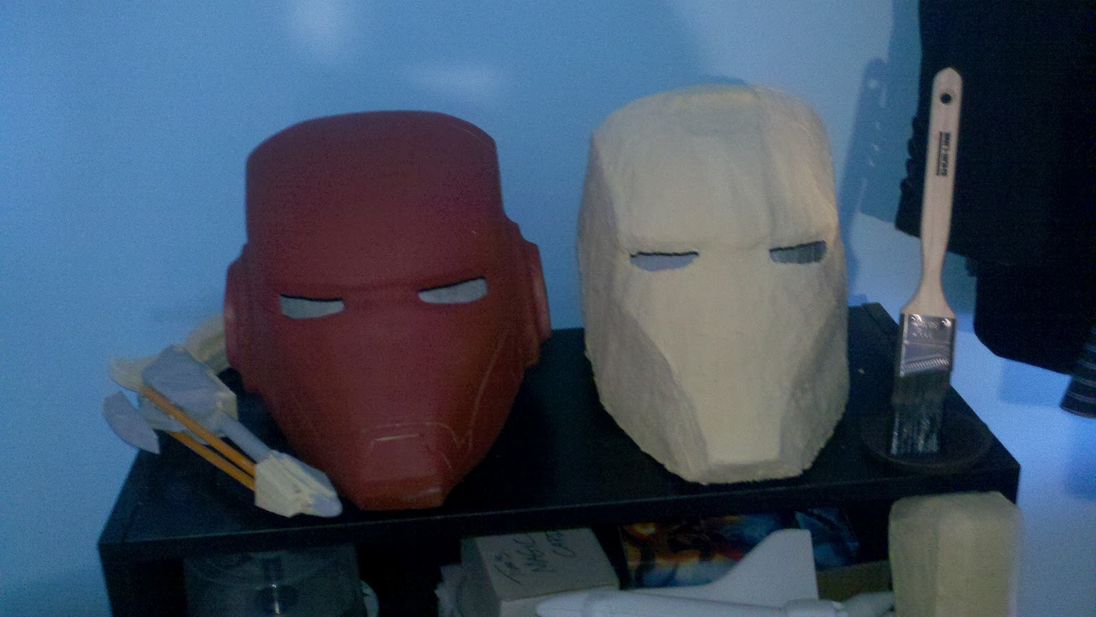 how to make an iron man helmet out of paper