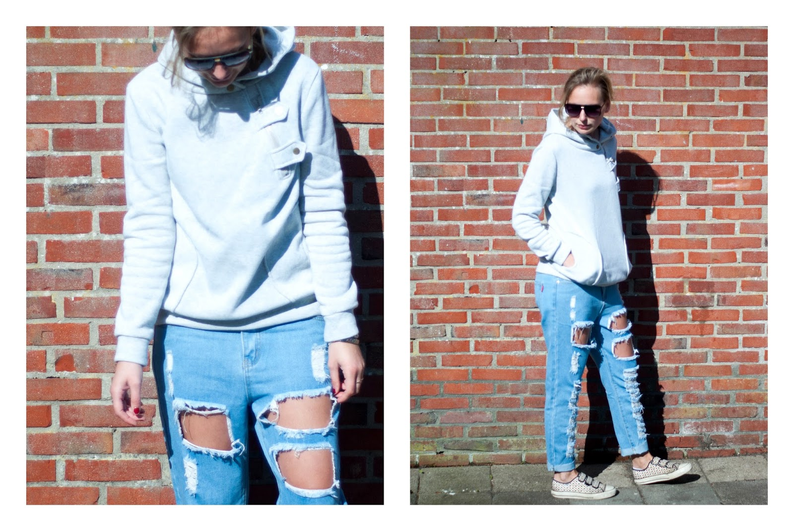 LAYED BACK AND RIPPED JEANS - 1310bynora