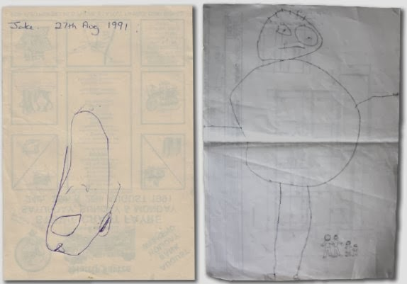 the drawings of an artist age 2