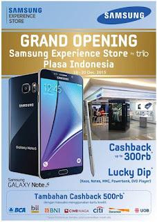 Promo Akhir Tahun 2015 Grand Opening Samsung Experience Store Plaza Indonesia