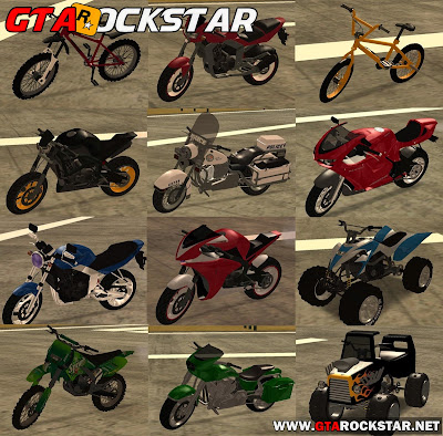 GTA SA - Pack de Motocicletas Convertidas do GTA V 2015