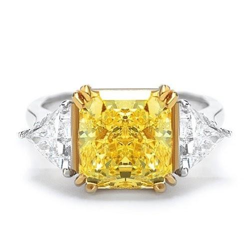 Jewelry Fashion And Celebrities Fancy Yellow Diamond Ring