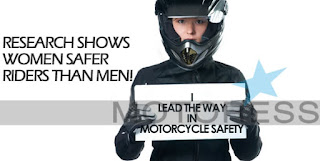 Motorcycles biker rider racing pictures research shows women safer rider