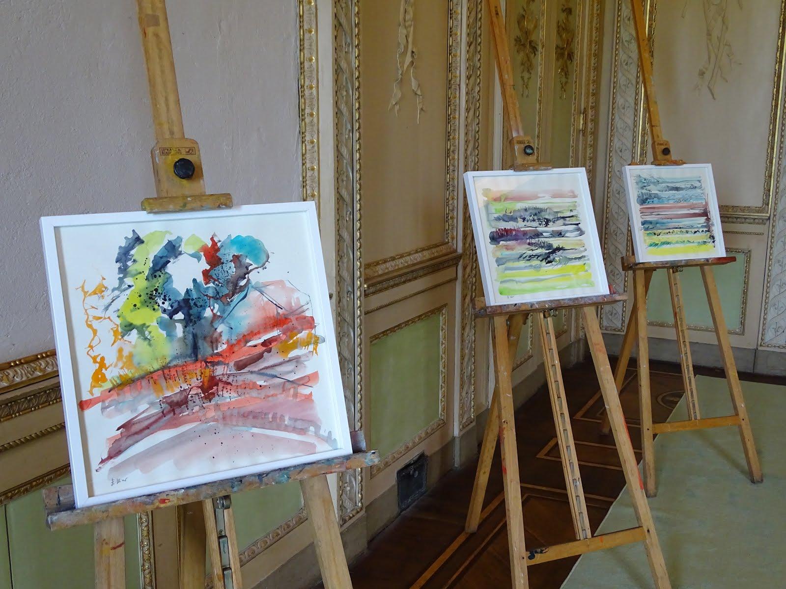 Mostra personale di acquarelli dell'insegnante alla Villa Reale di Monza