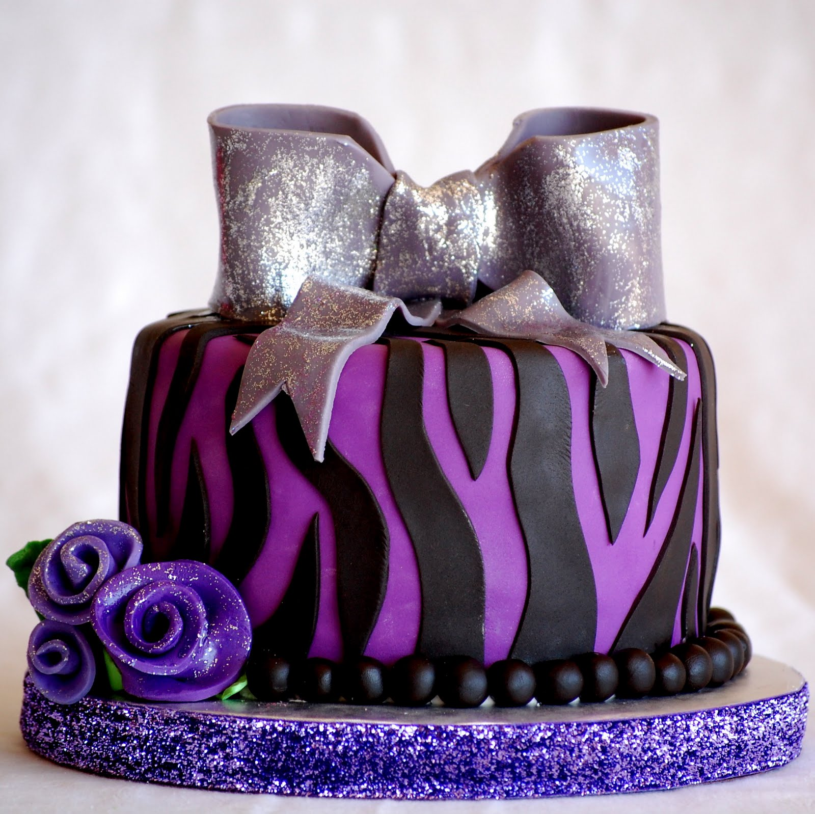 CakeFilley: Purple Zebra Cake