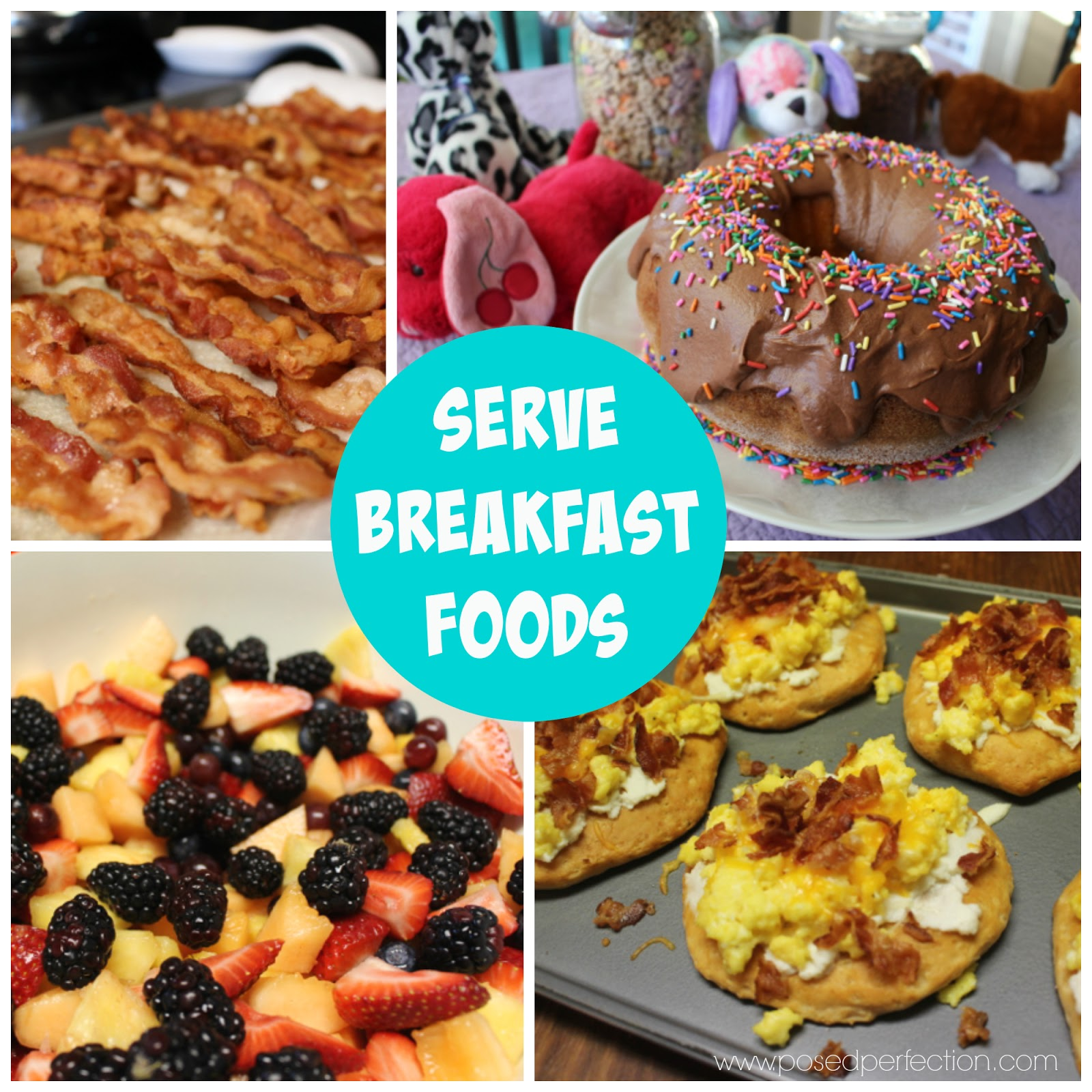 "Serving breakfast foods at the ""unslumber"" party makes for an easy menu."