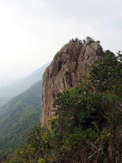 The lion head rock formation of Lion Rock Peak, in New Territories, Hong Kong