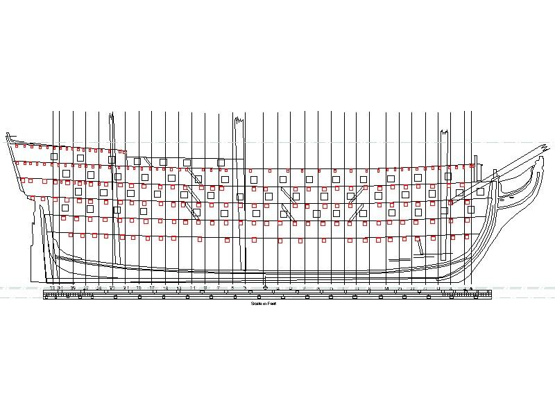 Wooden Model Builder Hms Victory Inboard Works
